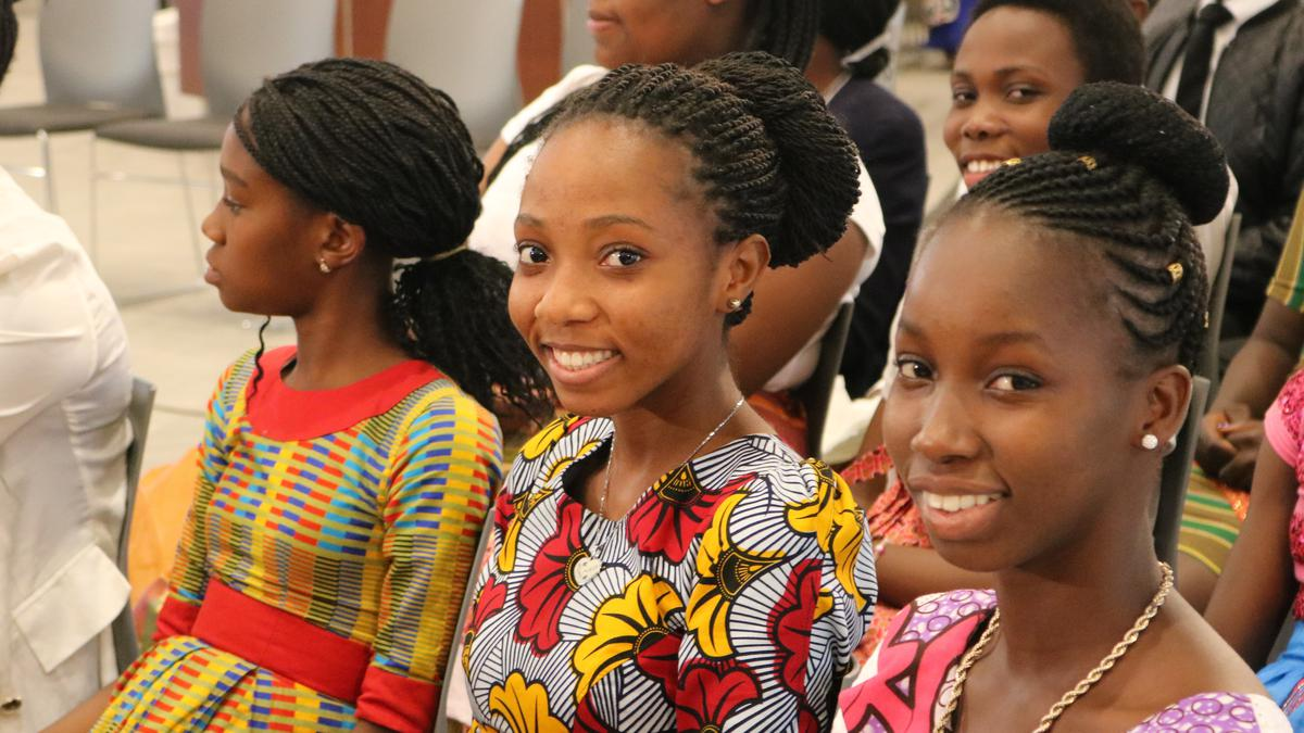 LDS women listen to Elder Renlund at Face to Face event in Ghana