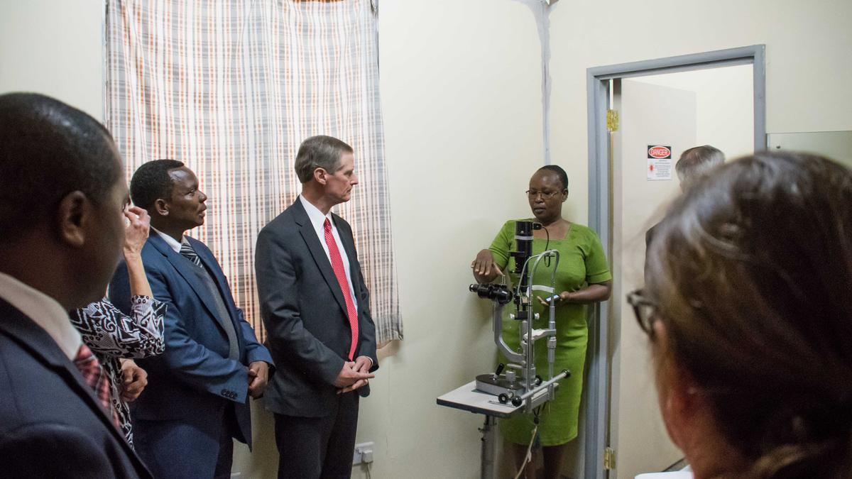 Elder Bednar visiting St. Mary's mission hospital