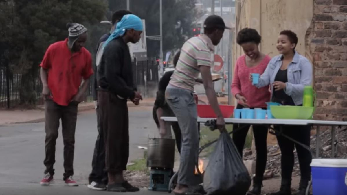 Women serving food to those in need