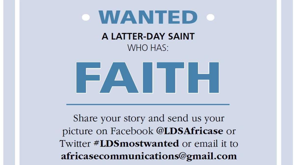 LDS Most Wanted looking for members with Faith in January