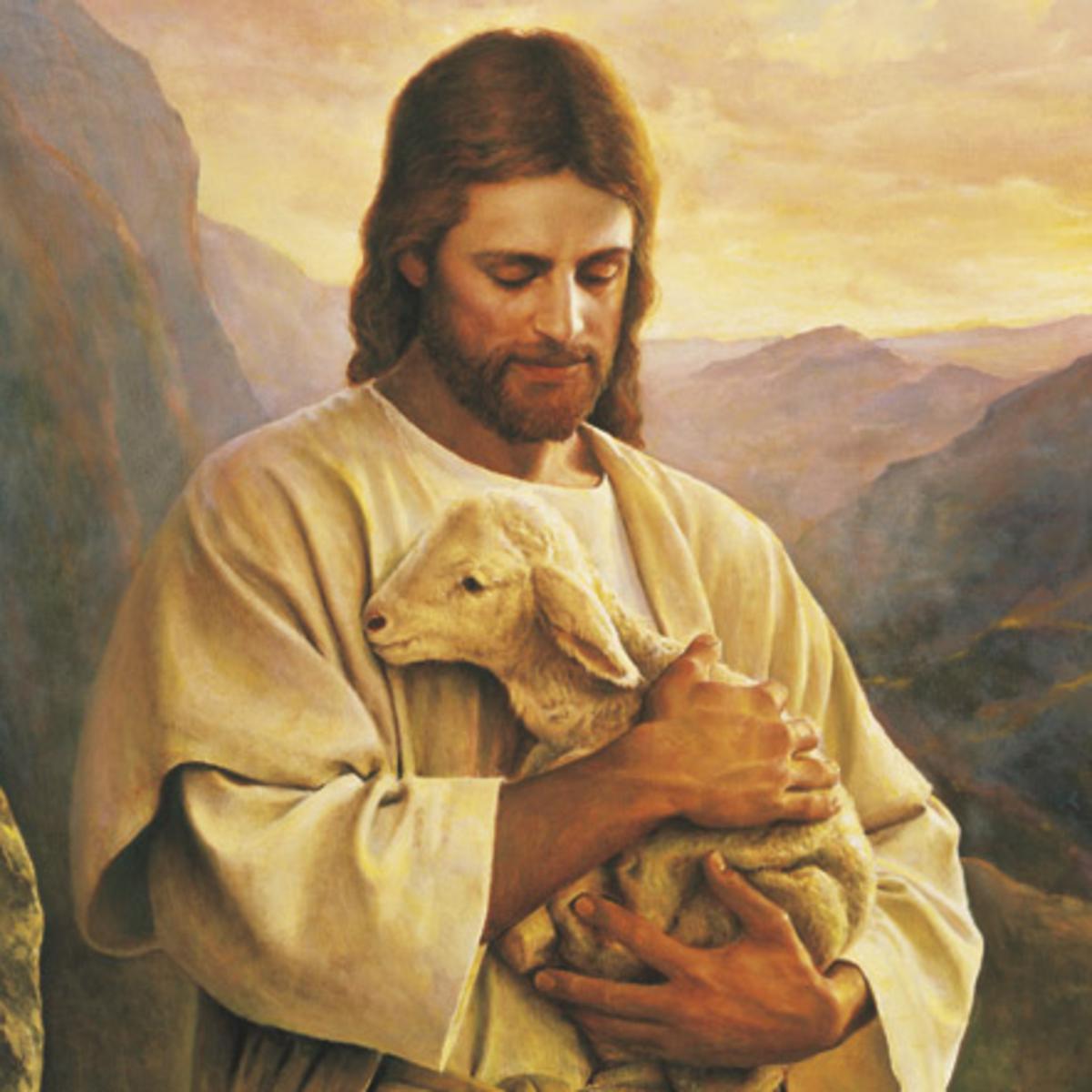 image of Christ & lamb