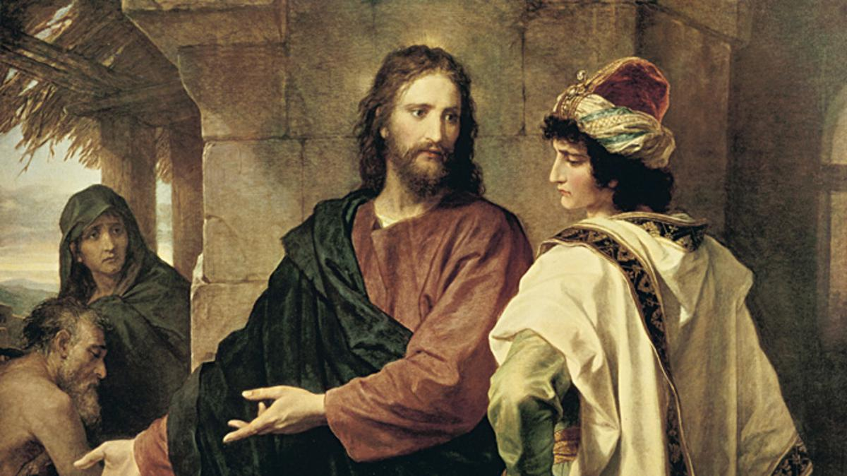 image of Jesus and rich man