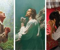 Joseph Smith, Jesus Christ and Latter-Day Saint praying
