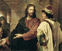 image of Jesus and the rich man