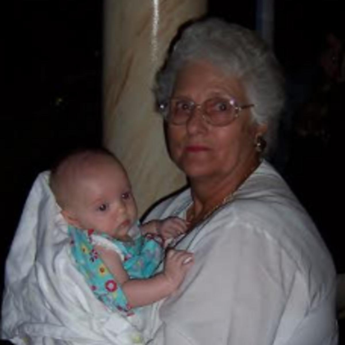 image of grandmother & baby