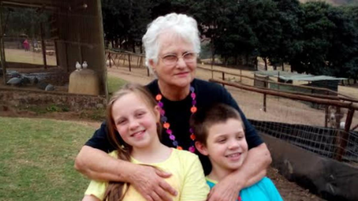 image of grandmother & 2 grandchildren