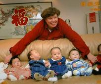 image of A. de Lange with Chinese babies