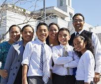 image of family at General Conference