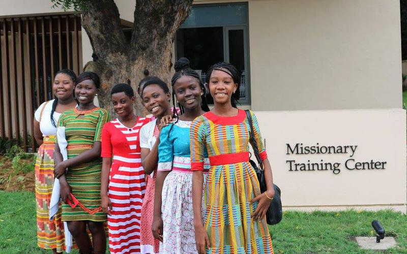 Females outside Missionary Training Centre