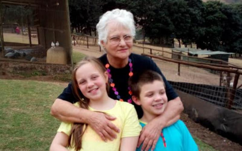 image of grandmother with 2 grandchildren