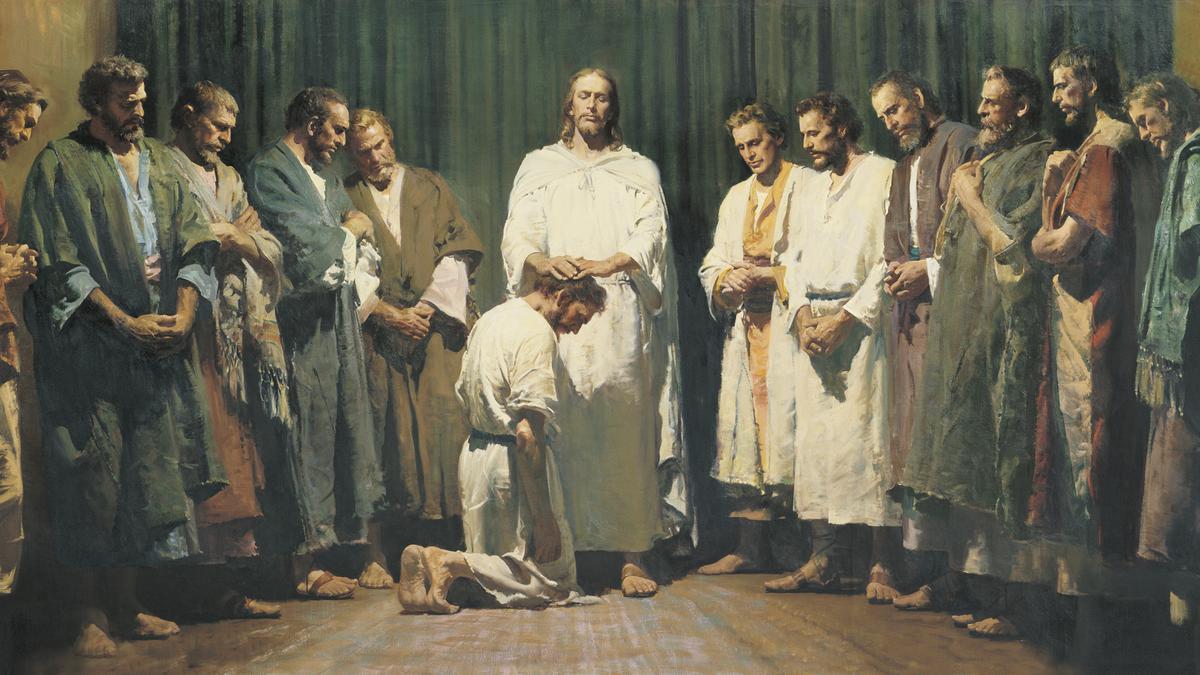 image of Christ ordaining the Twelve