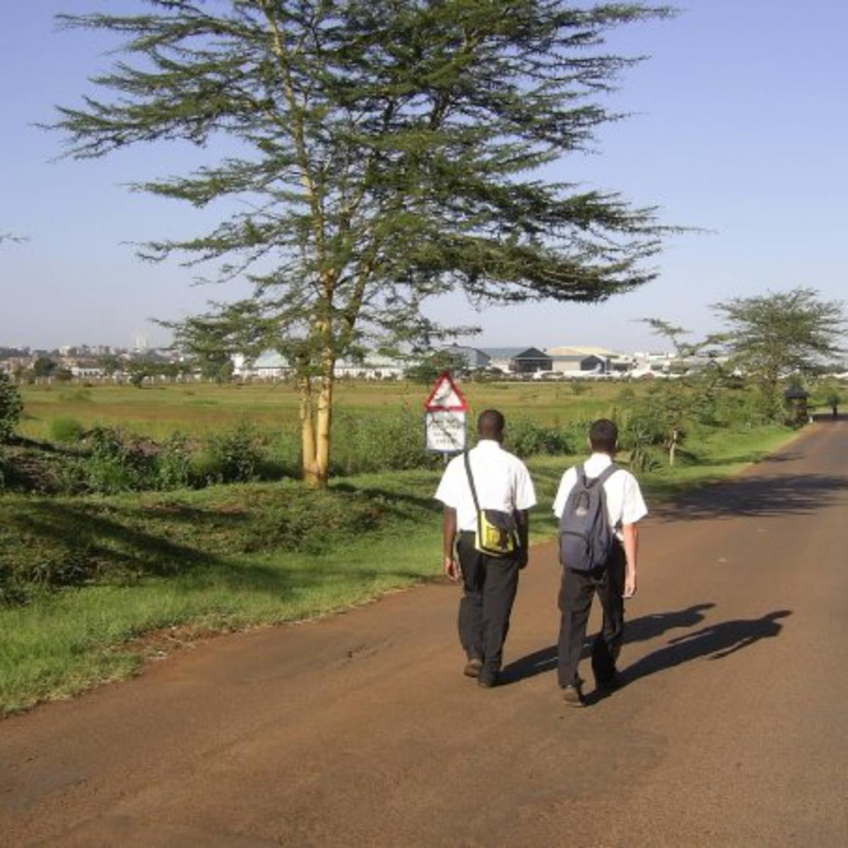 image of missionaries tracting in Kenya