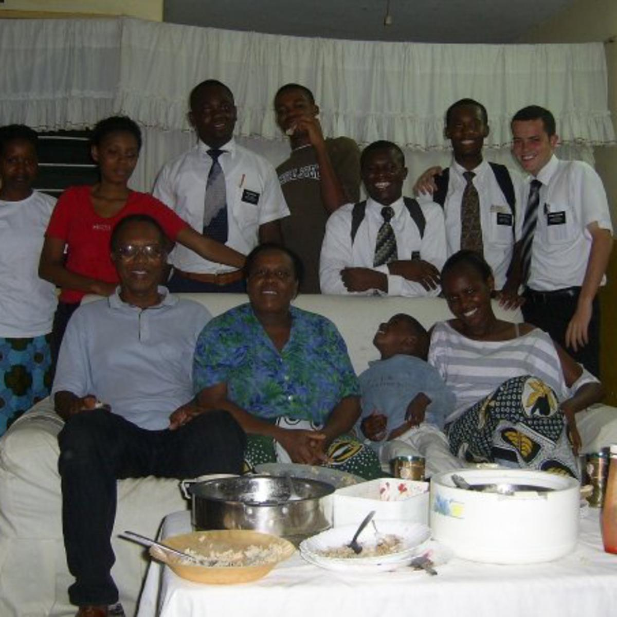 image of missionaries and family in Kenya