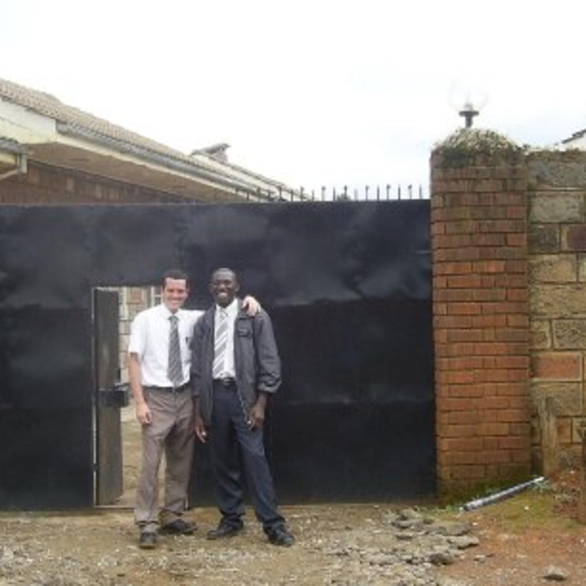 image of missionary at church in Kenya