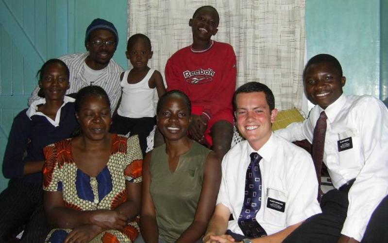 image of missionaries and Kenyan family