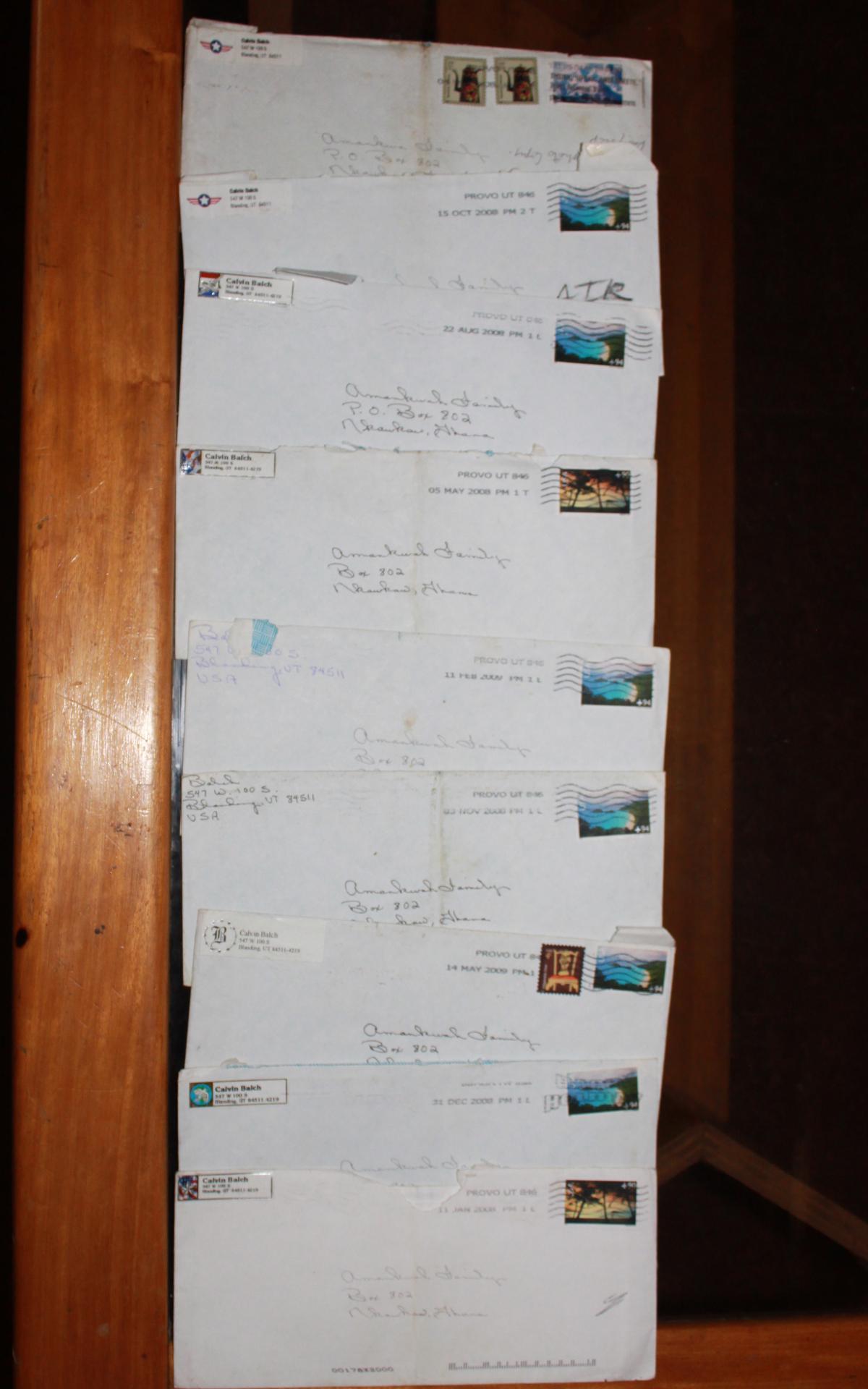 Les lettres provenant de Diane Balch