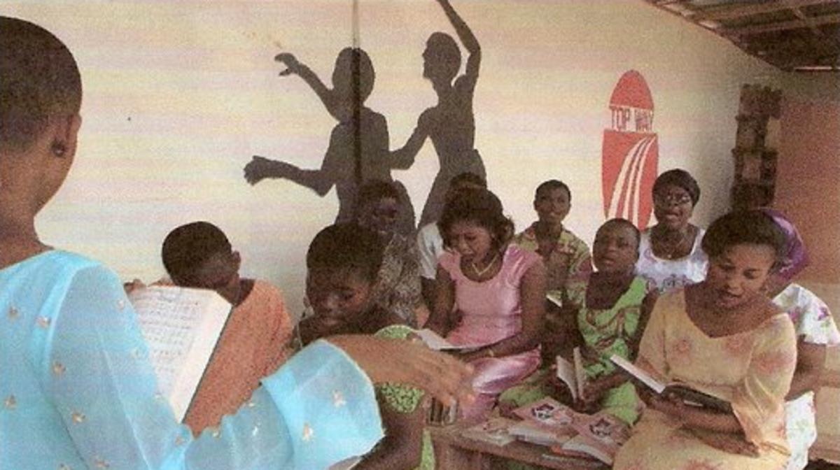 Classe de la société de secours de la branche de Nkwakaw