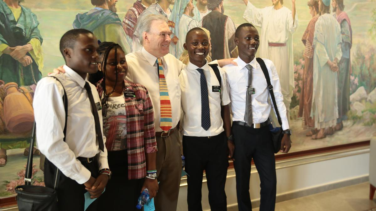 Elder Vinson with missionaries
