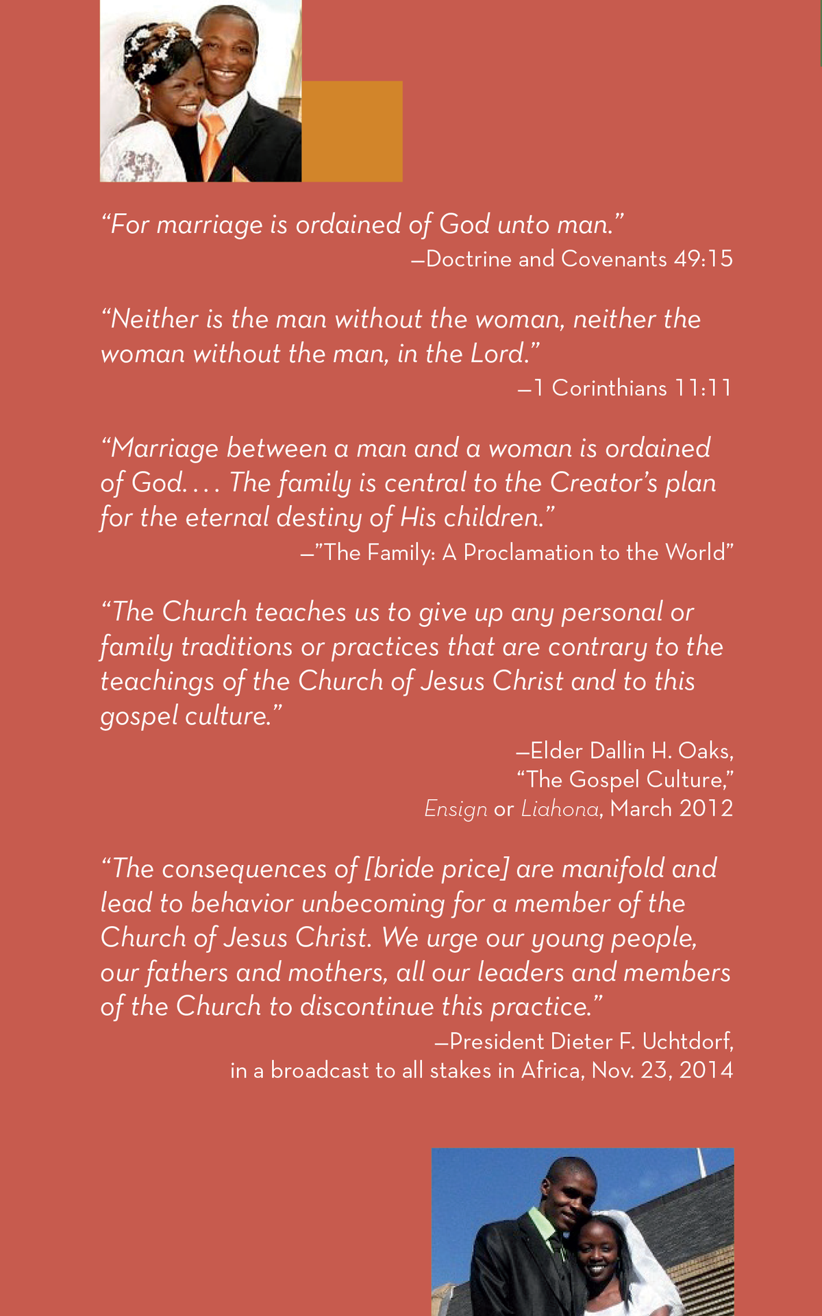 Marriage Brochure back cover