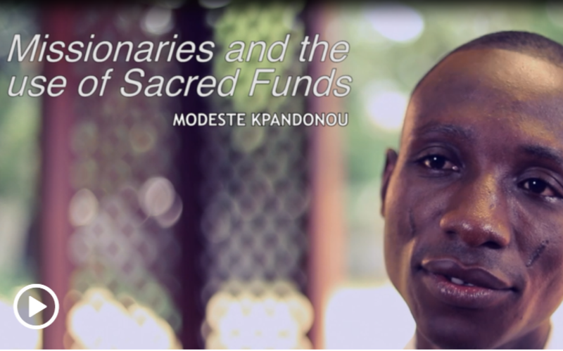 l'utilisation des fonds sacrés