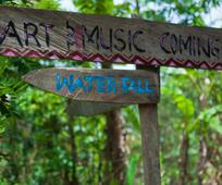 WATER FALL SIGN POST