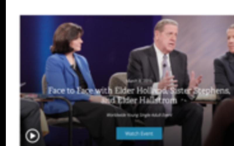 Face-à-face avec Elder Holland