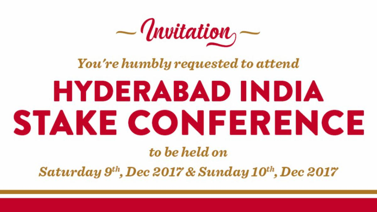 Hyderabad Stake Conference Dec 2017