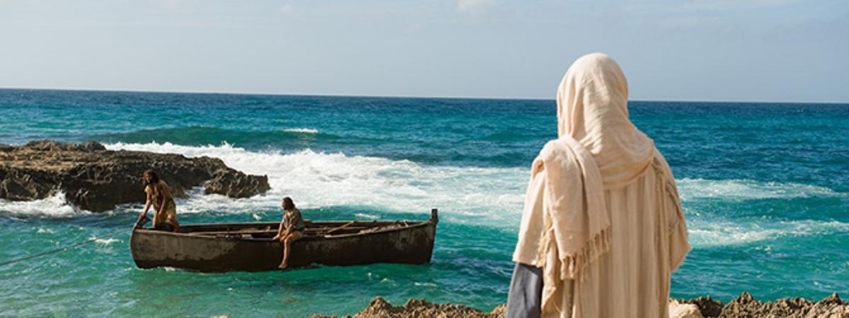 Jesus asks Simon Peter and Andrew to follow Him and become fishers of men
