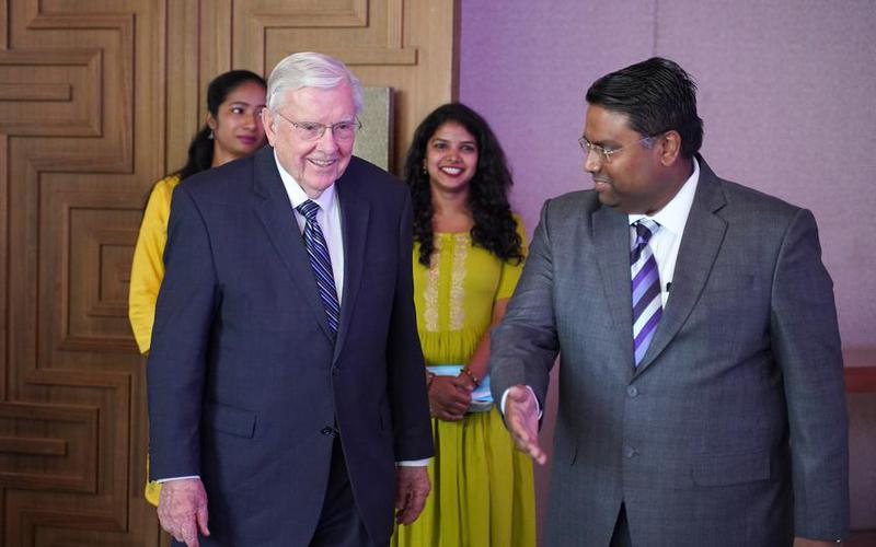 President M. Russell Ballard Teaches and Inspires on His First Visit to India