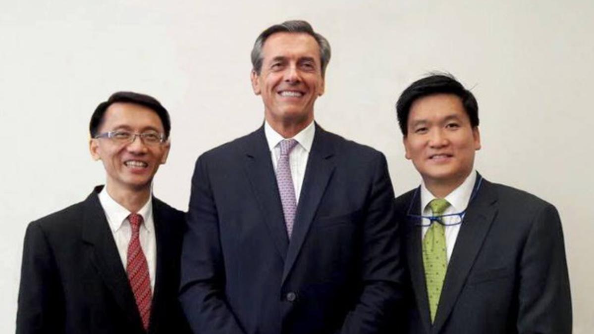 Singapore Stake Presidency Jean-Luc Butel Kwan Yew Mun Steven Seow