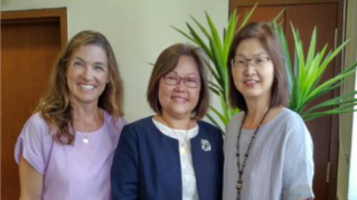Sis. Alison Jensen 2nd Counselor Cecilia Yow Pres and Leong Jiu Pheng Secretary