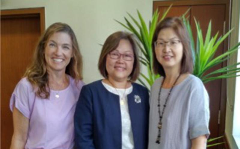 Sis. Alison Jensen 2nd Counselor Cecilia Yow Pres and Leong Jiu Pheng Secretary
