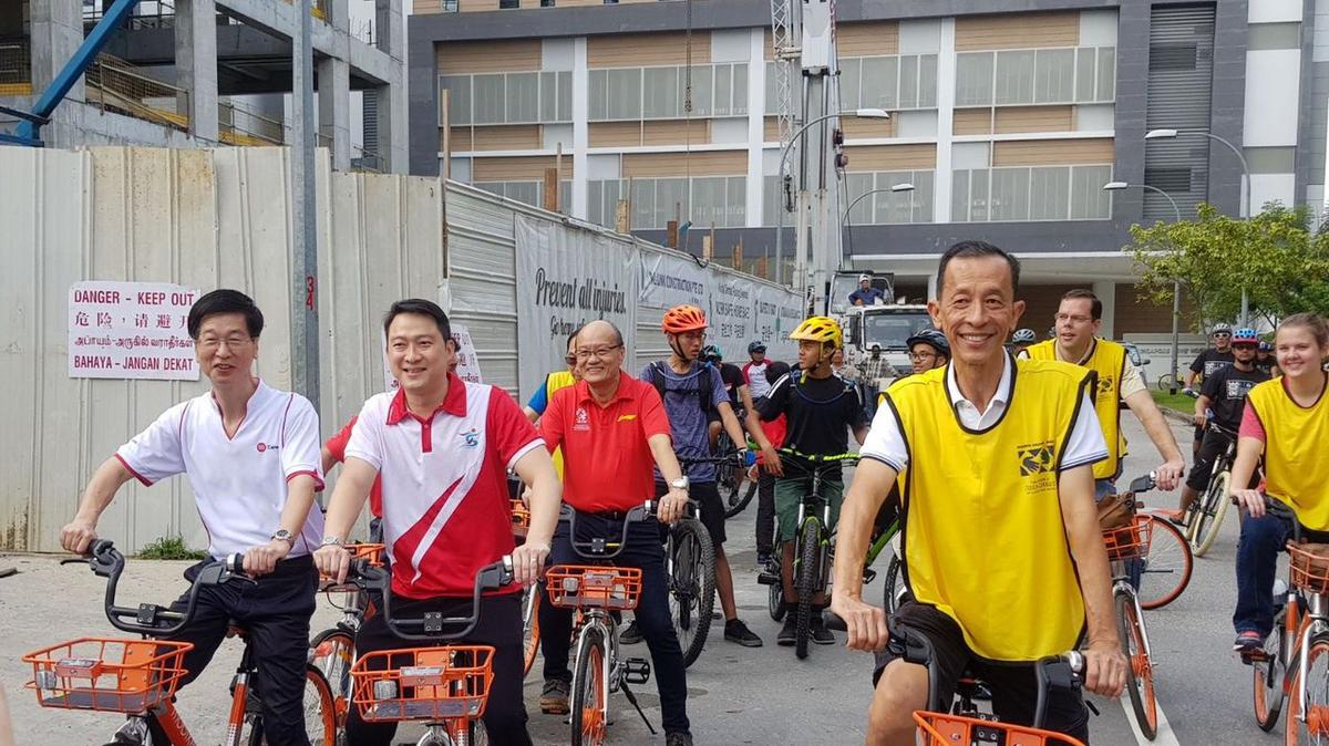 SOS Flag off bicycle ride