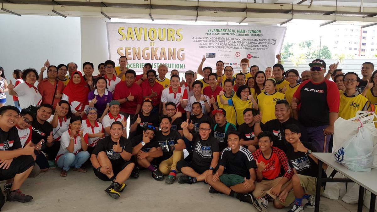 SOS Volunteers from Church Mosque CCC and Cycling group