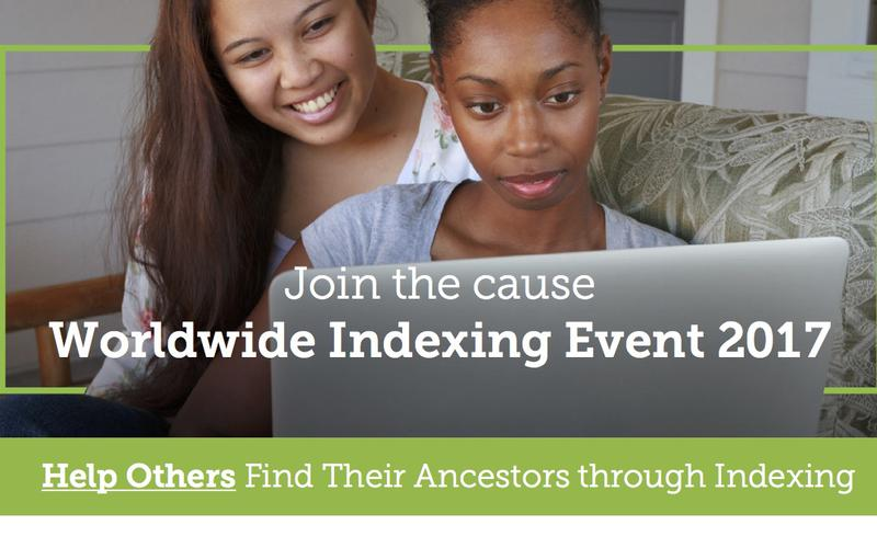 Join the cause Worldwide Indexing Event 2017