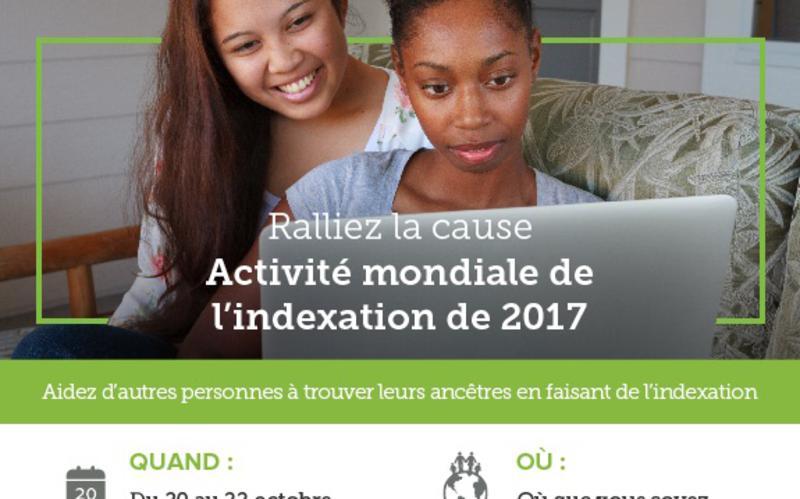 Ralliez la cause Activité mondiale de l'indexation de 2017