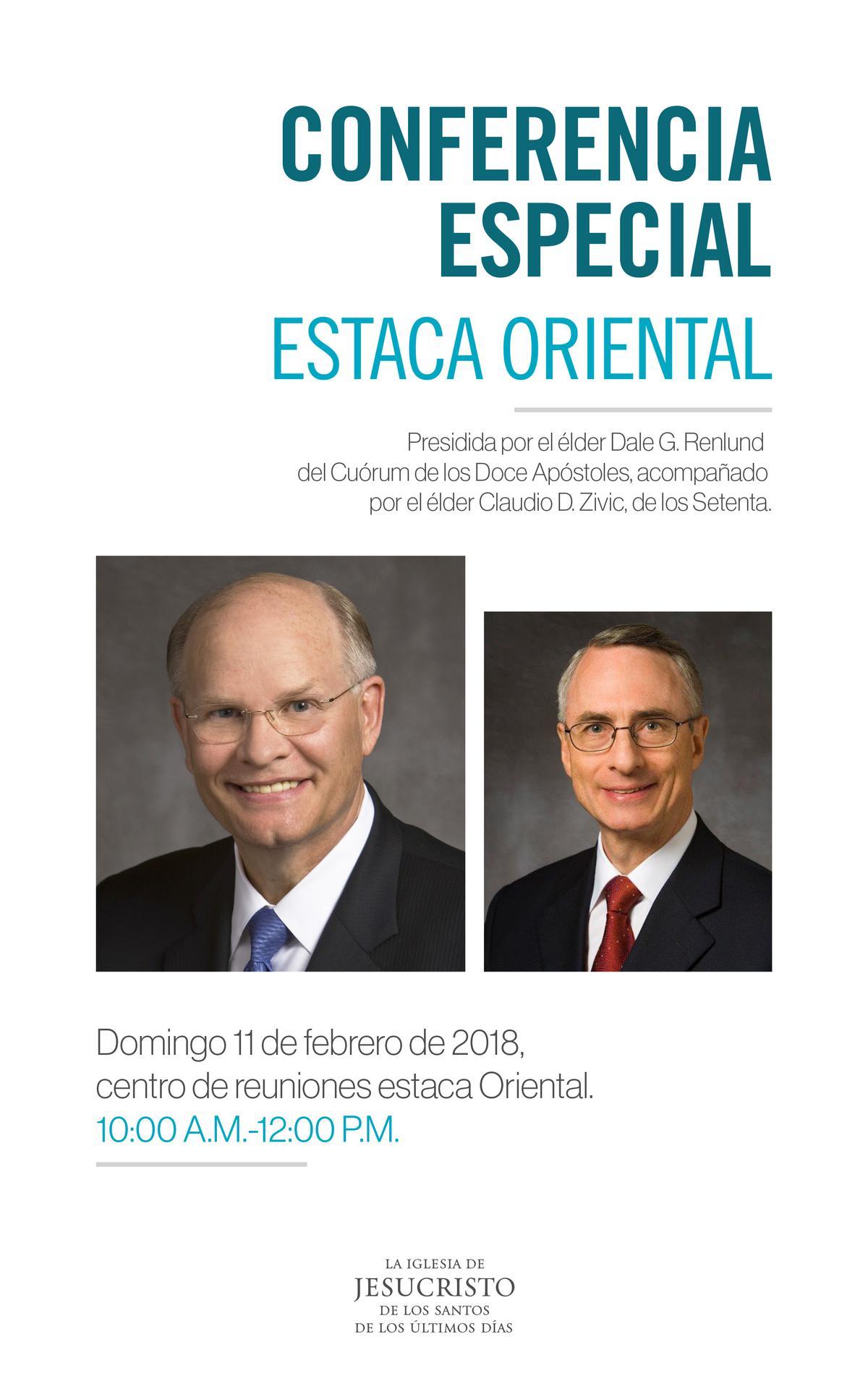 CONFERENCIA ESPECIAL ESTACA ORIENTAL