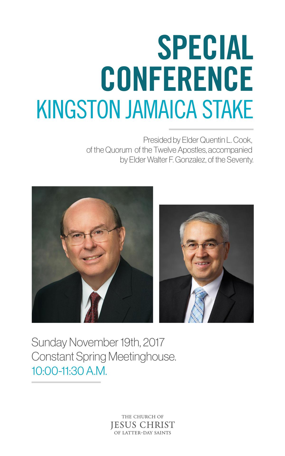 Special Conference Kingston Jamaica Stake