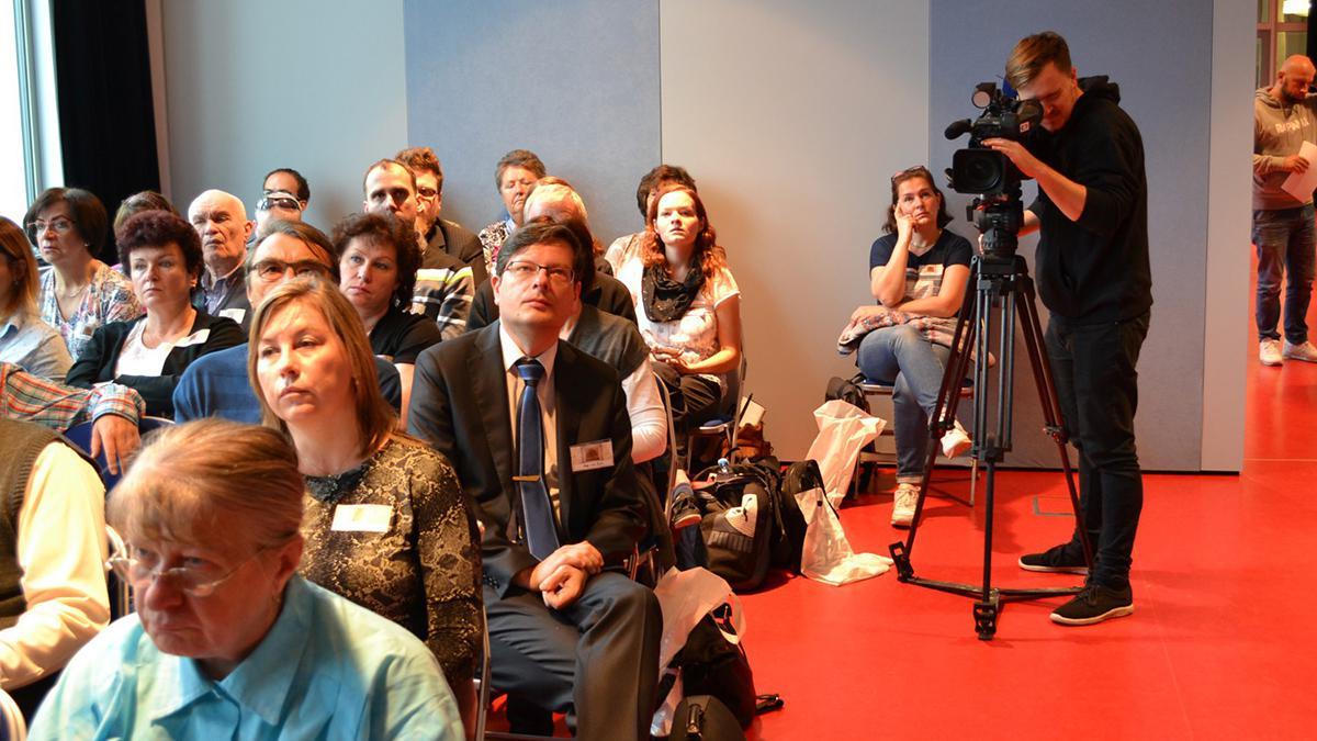 Na 4. ročník genealogické konference přijela natáčet Česká televize.