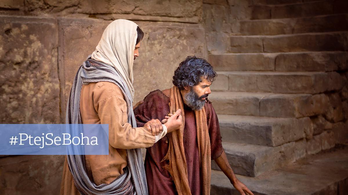 Jezis se slepym muzem