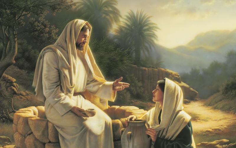 Jesus und die Frau am Brunnen