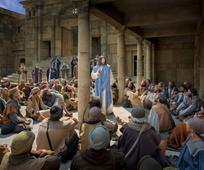 Jésus enseigne au peuple