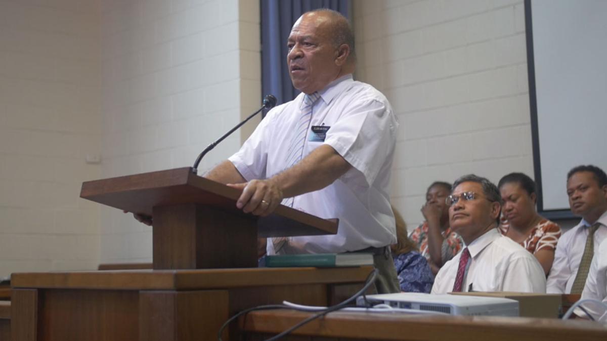 Former Port Moresby mission president, President Mateaki