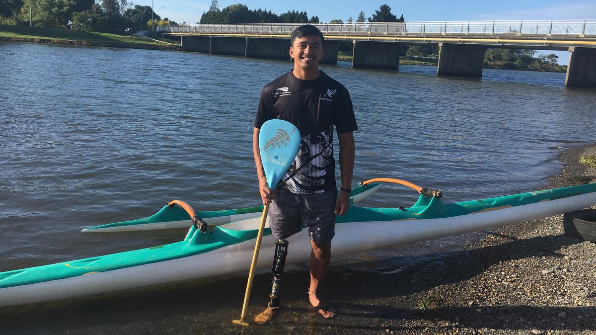 Peter Cowan loves to participate in Waka Ama
