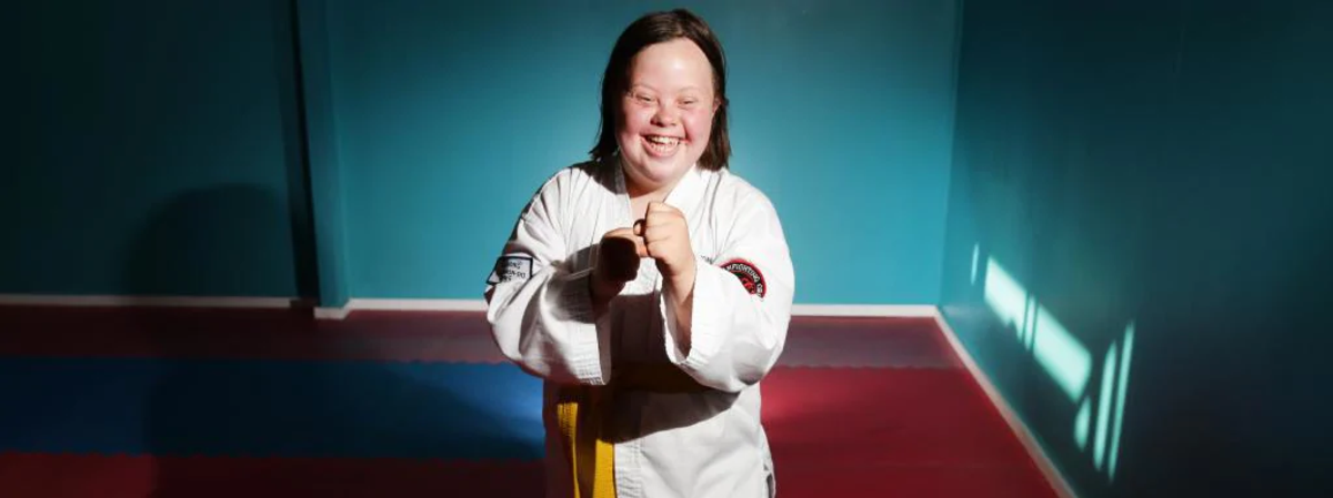 Lindy Crouch - Gold Medal winner in Taekwondo