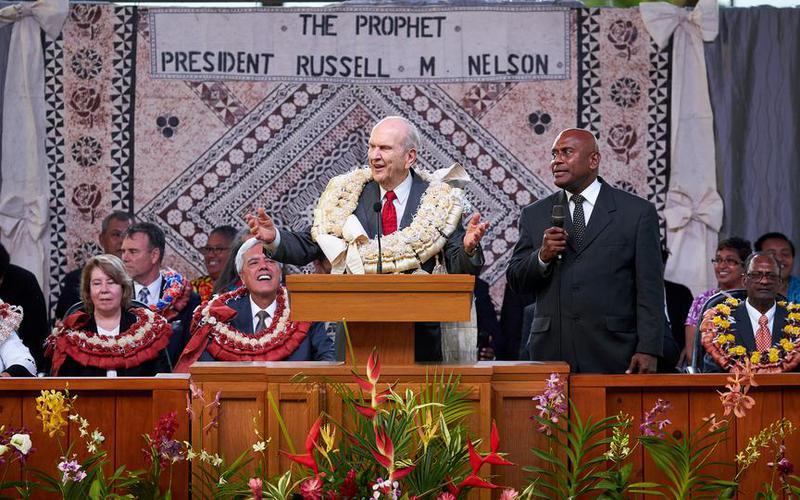 President Nelson in Fiji