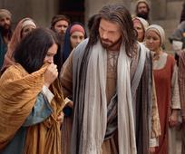 Jesus ministering