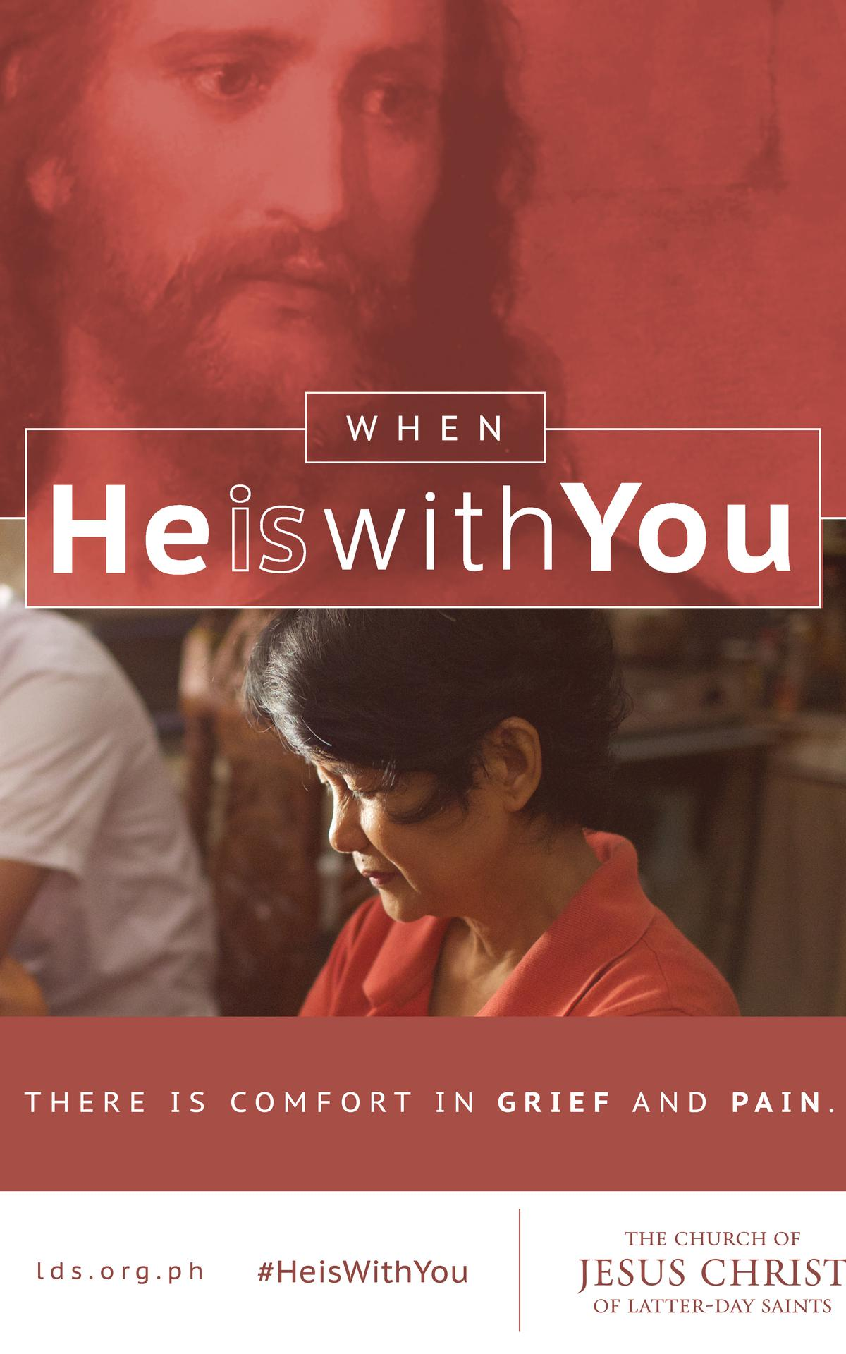 When He is with you there is comfort