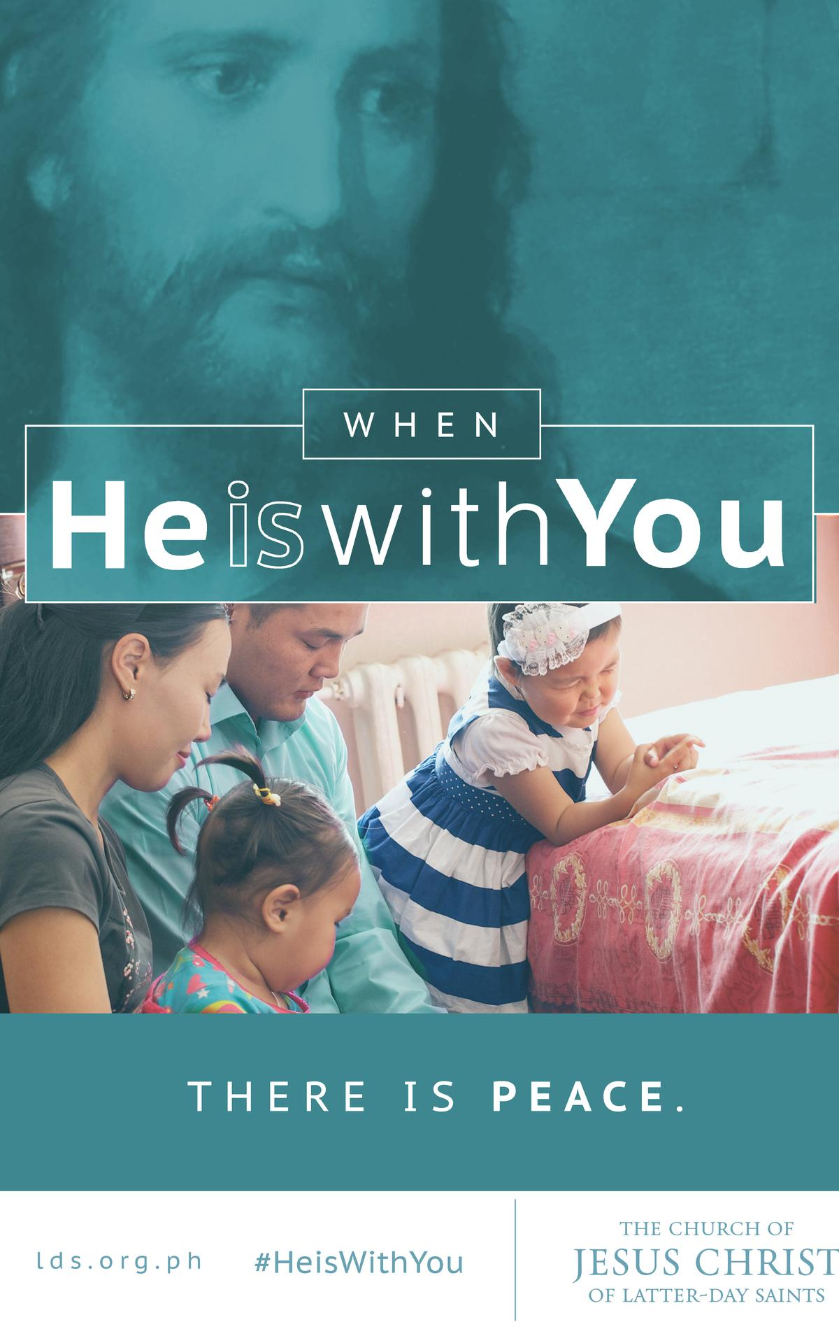 When He is with you there is peace
