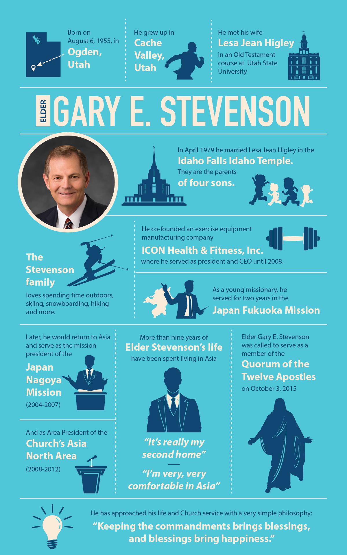 Elder Gary E. Stevenson infographic